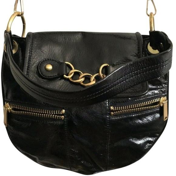 Cynthia Rowley Handbags - CYNTHIA ROWLEY Medium Black Patent Crossbody Bag